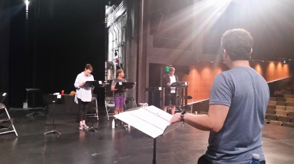 The director, when we were onstage